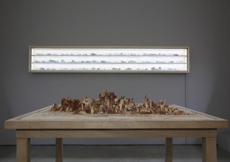 Bae Young-whan. (Table)Unrequited, 2010. Hand-planed wood, wood glue, 107.5 x 87 x 85.5 cm.