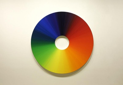 Olafur Eliasson. Colour experiment no. 7 (360 colours), 2009. Oil on canvas, 180 diameter. Courtesy of the artist & PKM Trinity Gallery. © 2009 Olafur Eliasson.