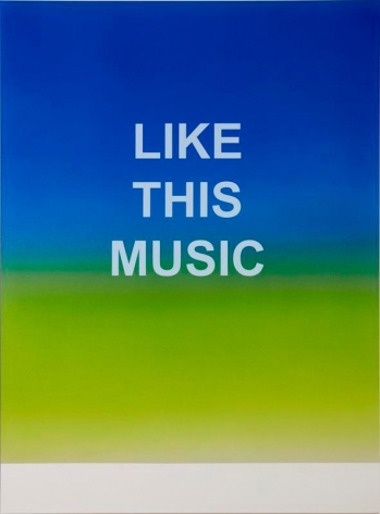 Wonwoo Lee. Like This Music, 2015. Paint on aluminium, 120 x 90 cm. Courtesy of the artist and PKM Gallery.