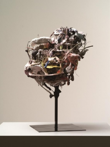 Ham Jin. Somewhere in the Body, 2013.Polymer clay and wire, 70 x 55 x 46 cm.