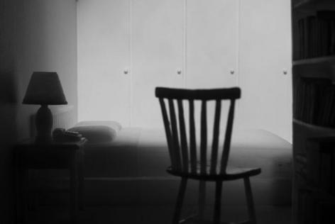Jonas Dahlberg. Three Rooms : Location Studies - Bedroom (Ed. 12 + 2AP), 2008.Lambda prints mounted in black wooden box, 125 x 187 cm.Courtesy of the artist & PKM Gallery.