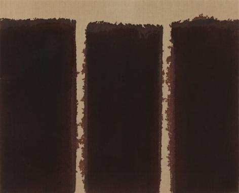Yun Hyong-keun.Burnt Umber & Ultramarine Blue,1991,Oil on linen,80.5 x 100 cm.Courtesy of the artist & PKM Gallery.