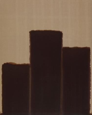 Yun Hyong-keun. Burnt Umber & Ultramarine, 1991, Oil on linen, 227 x 181.7 cm. Courtesy of PKM Gallery.