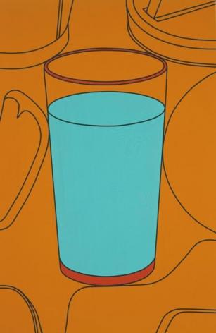 Michael C. Martin. Glass (Wallpaper-Orange), 2004. Acrylic on canvas, 66 x 43.2 cm