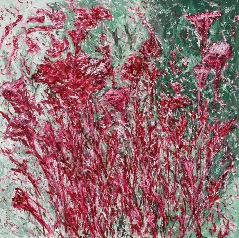 Jiwon Kim. Mendrami, 2012-2014. Oil on linen, 100 x 100 cm. Courtesy of the Artist & PKM Gallery.