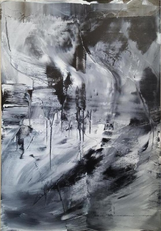 Sihn Min Joo. #16-014, 2016. Acrylic on canvas, 112 x 162 cm. Courtesy of the Artist & PKM Gallery.