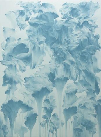 Moon Beom. Possible Worlds #526, 2008. Acrylics, oilstick, vanish on panel, 165 x 122 x 7 cm.