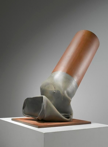 Claes Oldenburg. Fagend Study – Half Scale, 1973-75.Lead and steel filled with polyurethane foam, 73 cm x 73.3 cm x 46 cm. © 1973 Claes Oldenburg. Photo courtesyPace Gallery.