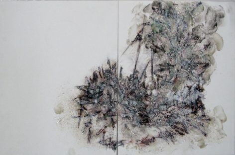 Lee Bul. Untitled, 2009. Acrylic paint on board,  35 x 54cm.