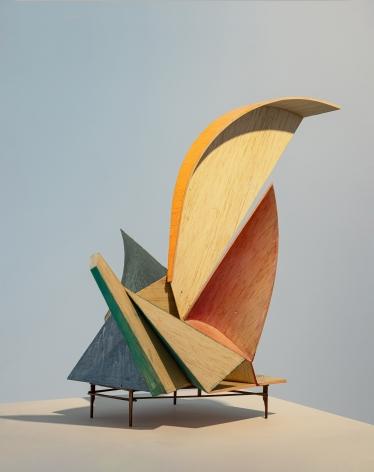 Koo Hyunmo.꽃Flower, 2021, Balsa, acrylic paint, 31(h) cm.Courtesy of the artist & PKM Gallery.