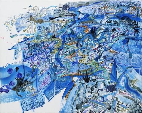 Ham Jin. Untitled 5, 2011. Acrylic on canvas, 45.5 x 53cm.