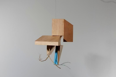 Koo Hyunmo. Village, 2014. Walnut wood and paint, approx.43 x 29 x 41 cm. Courtesy of the artist &PKM Gallery.