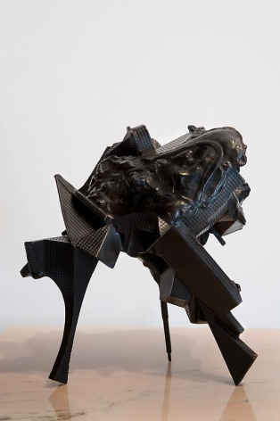 Lee Bul. Untitled, 2007. Bronze,marble and stainless steel, 30 x 22 x 34 cm.