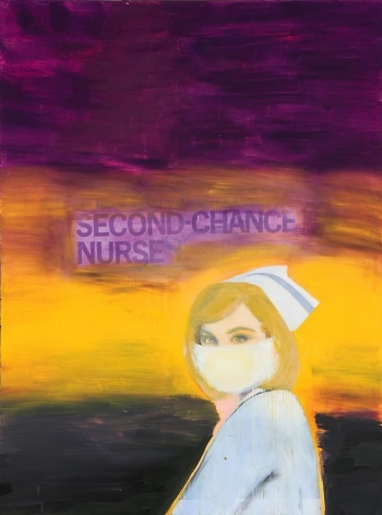 Richard Prince. Second Chance Nurse, 2003.Ink jet print and acrylic on canvas, 198.1 x 147.3 cm.Courtesy of the artist & PKM Gallery.