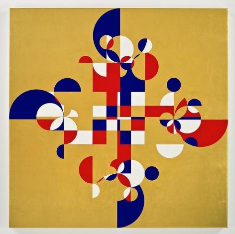 Gabriel Orozco. Gold Trebol, 2008. Tempera and gold on canvas, 90 x 90 cm.