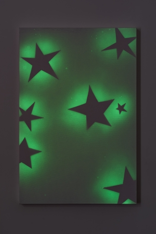 Koo Jeong A. Seven Stars, 2020,Pigment painting on canvas,91.5 x 61 x 3.6 cm. Courtesy of the artist & PKM Gallery.