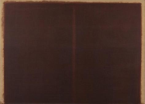 Yun Hyong-keun. Burnt Umber & Ultramarine, 1987. Oil on linen, 209.5 x 291.5 cm. Courtesy of Yun Seong-ryeol and PKM Gallery.