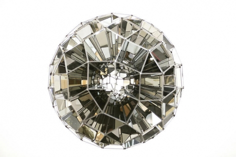Olafur Eliasson. Square sphere (Ed. 10), 2007. Stainless steel mirrors and bronzed brass, Diameter 90 cm.Courtesy of the artist & PKM Gallery.