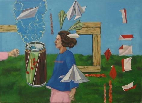 Suejin Chung. Empty space, 2011. Oil on canvas, 33 x 24cm.