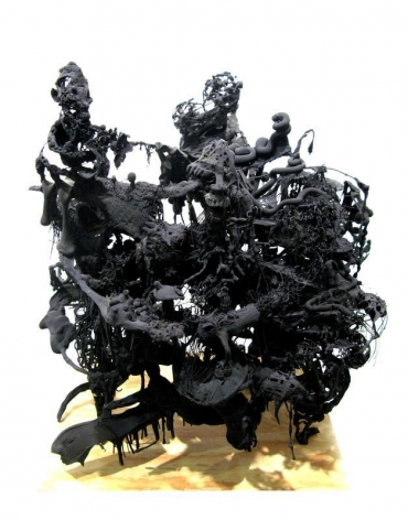 Ham Jin. Untitled 30, 2011. Polymer clay, glue, wire and fishing line, 63 x 65 x 60 cm