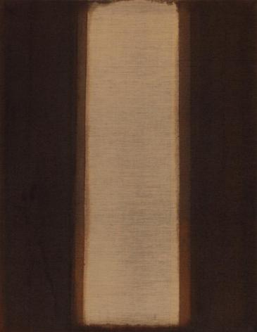 Yun Hyong-Keun. Burnt Umber & Ultramarine, 1978, Oil on linen, 142 x 110 cm. Courtesy of The Estate and PKM Gallery.