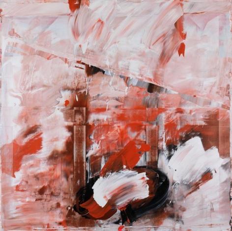 SHIN MIN JOO. Uncertain Emptiness P18-02, 2018, Acrylic on canvas, 150 x 150 cm. Courtesy of the artist & PKM Gallery.