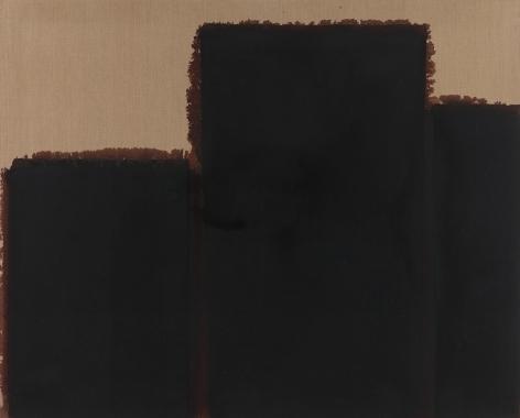 Yun Hyong-keun.Burnt Umber & Ultramarine Blue '92-#7, 1992,Oil on linen,130.4 x 162.4 cm.Courtesy of the artist & PKM Gallery.