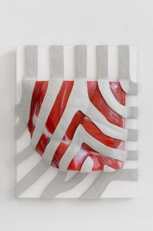 Michael Joo. P.C.study, 2007. Hand-built plastic on canvas with cast epoxy and enamel paint, 62.3 x 47 x 4.5 cm.