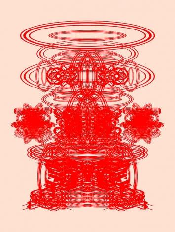 Sangnam Lee. Arcus+Spheroid S 004, 2007.Ott and acrylic on panel, 121 x 91 cm.Courtesy of the artist & PKM Gallery.