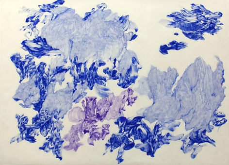 Moon Beom. Possible worlds #705, 2007. Ballpoint pen on translucent paper, 80 x 110 cm.Courtesy of the artist & PKM Gallery.