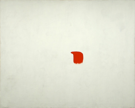 Ufan Lee. From point, 1982.Acrylic on canvas, 188 x 233 cm.Courtesy of the artist & PKM Gallery.