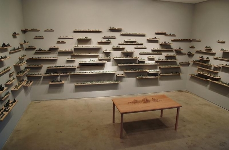 """Bae Young-whan. Installation view of solo exhibition """"Autonumina,"""" P K M Gallery   Bartleby Bickle & Meursault, 2010.Courtesy of the artist & PKM Gallery."""