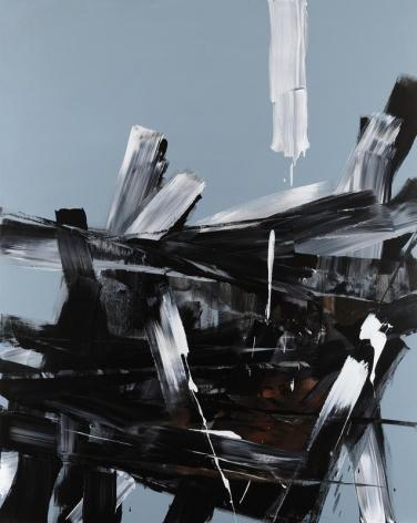 Shin Minjoo. Uncertain Emptiness 17002, 2017.Acrylic on canvas, 227 x 182 cm. Courtesy of the artist & PKM Gallery.