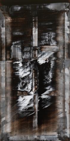 Shin Min Joo.Uncertain Emptiness 15019, 2015, Acrylic on canvas,194 x 97 cm.Courtesy of the artist &PKM Gallery.