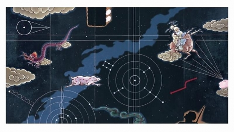 Guan Wei. The Southern Cross, 2008. Acrylic on canvas, 240 x 450 cm.
