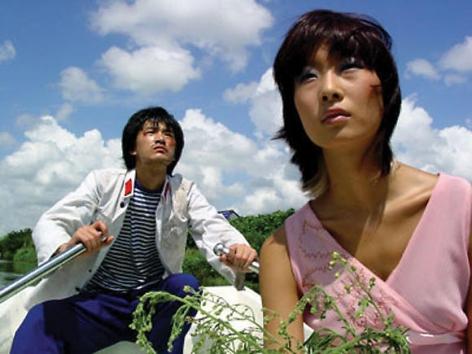 Yang Fudong. Lock Again (lu ke zai yu) (Ed. 10), 2004. 16mm film transferred to DVD, 3 min, Sound by Miya Dudu.Courtesy of the artist & PKM Gallery.