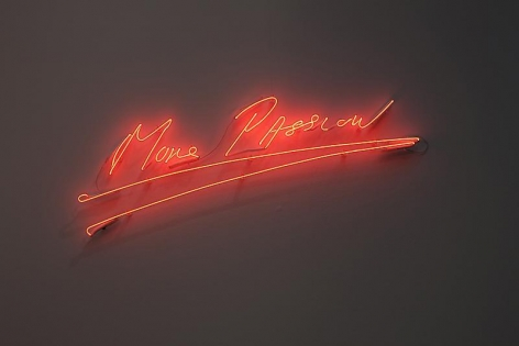 Tracey Emin. More Passion, 2010.Clear red neon, 39 x 112.7 cm.Courtesy of the artist & PKM Gallery.