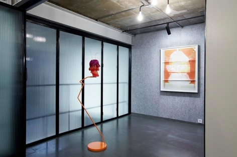 Tala Madani & Nathaniel Mellors. Installation view of two-person exhibition. PKM Gallery Temporary Exhibition Space, 2014.
