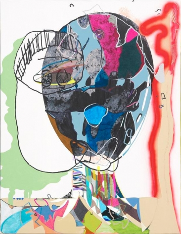 Young Do Jeong. Predators, 2014-2016. Acrylic, spray paint, marker, color pencil, and graphite on canvas, 117 x 91.2 cm. Courtesy of the Artist & PKM Gallery.