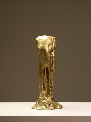 Bae Young-whan. Golden Tears I, 2013. Liquid plastic, epoxy, gold paint, 53 x 23 x 17 cm.Courtesy of the artist and PKM Gallery.
