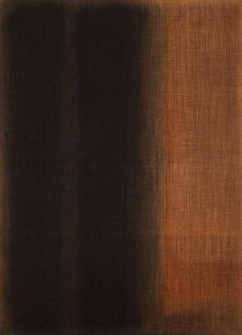 Yun Hyong-keun. Umber-Blue, 1975. Oil on hempen-cloth, 100.3 x 73 cm. Courtesy of  Yun Seong-ryeol & PKM Gallery.
