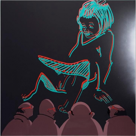 Tala Madani. 3D Pussy with Projection Light, 2014.Courtesy of the artist andPilar Corrias.