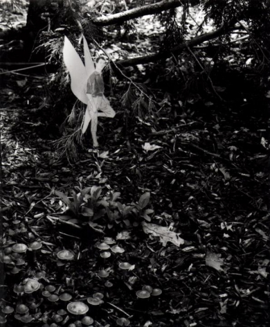 Hernan Bas. Untitled 4, from the series 'A bunch of fairies,'2011.Gelatin silver print, 12 x 9.6 cm (image) 37 x 29.5 cm (framed).Courtesy of the artist & PKM TrinityGallery.
