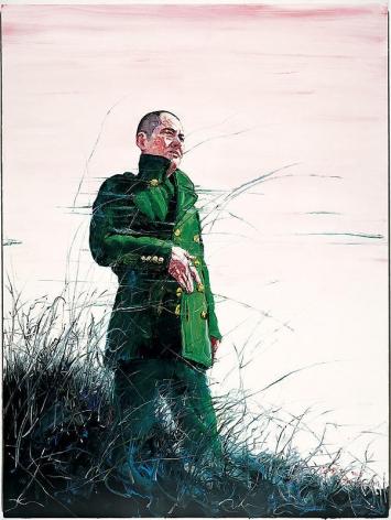 Zeng Fanzhi. Self Portrait, 2006. Acrylic on canvas, 200 x 150 cm.Courtesy of the artist & PKM Gallery.