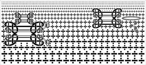 Sangnam Lee. L-Algorithm 003, 2008.Ott+Acrylic on Panel, 170 x 380 cm.Courtesy of the artist & PKM Gallery.