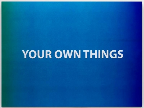 Wonwoo Lee. Your own things, 2013, Paint on aluminum, 60 x 80 x 2.8 cm. Courtesy of the artist & PKM Gallery.
