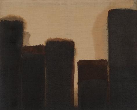 Yun Hyong-keun. Burnt Umber & Ultramarine, 1977 - 1989, Oil on linen, 73 x 91 cm. Courtesy of PKM Gallery.