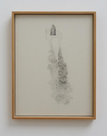 Koo Hyunmo. 굴뚝집 Chimney House, 2011, Pencil on paper, 41.1 x 31.6 cm. Courtesy of the artist & PKM Gallery.