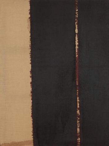 Yun Hyong-keun. Burnt Umber & Ultramarine, 1990. Oil on linen, 130.5 x 97.2 cm. Courtesy of Yun Seong-ryeol & PKM Gallery.