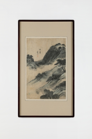 Gyeomjae Jeongseon 겸재 정선. Album of Paintings of the Eight Views in Jangdong Sesimdae 장동팔경 세심대,17 – 18th century,Ink and water colour on paper, 93 x 53.5 cm (Framed) 58 x 37 cm (work size).